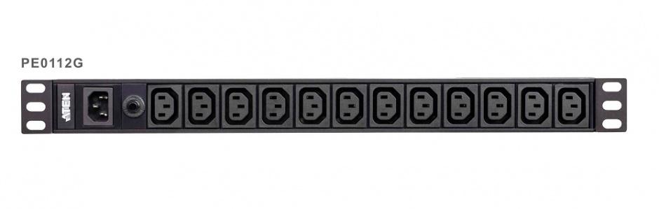 Imagine Prelungitor Basic PDU 1U 10A C14 la 12 porturi C13, ATEN PE0112G