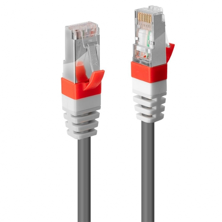 Imagine Cablu retea cat. 6A S/FTP LS0H Snagless 10m Gri, Lindy L45357