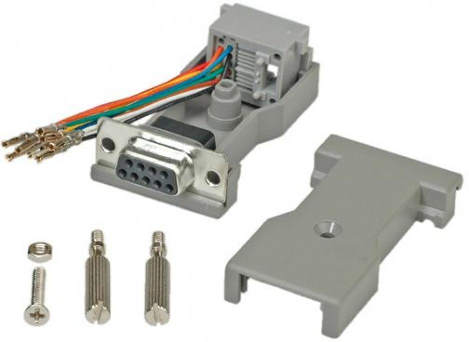 Imagine Adaptor serial socket DB9 la RJ45, Roline 12.03.7530-1