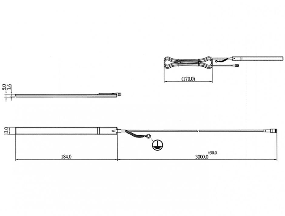 Imagine Antena exterior DAB+ interfata SMB 23 dBi activ omnidirectionala, Delock 12411