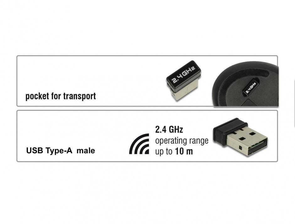 Imagine Mouse wireless ergonomic vertical optic, Delock 12528