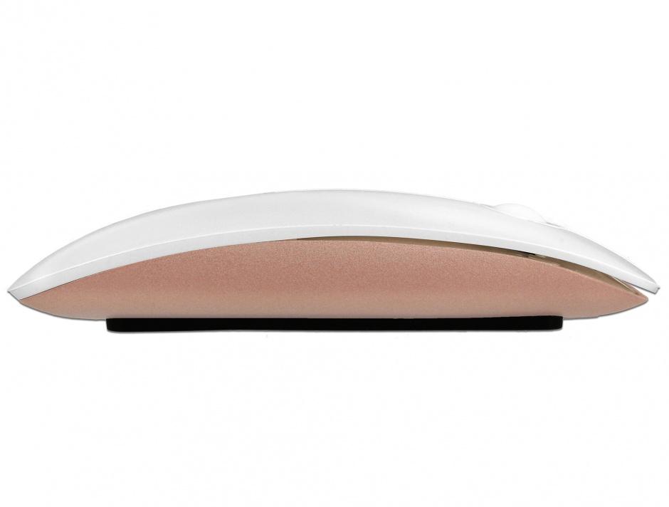 Imagine Mouse optic wireless 2.4 GHz alb/roz, Delock 12536