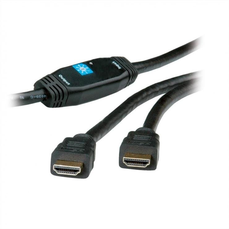 Imagine Cablu HDMI High Speed cu Repeater T-T 30m 3D, Roline 14.01.3465-2