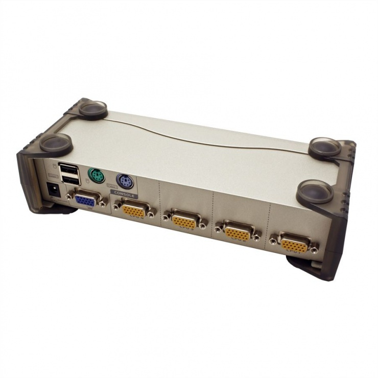 Imagine KVM Switch PS/2-USB VGA cu 4 porturi, Aten CS84U-4