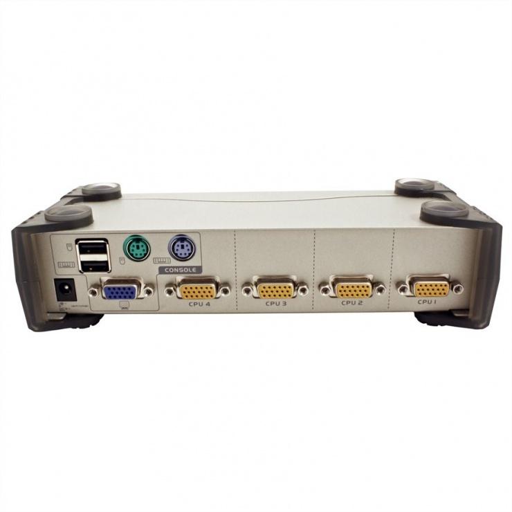 Imagine KVM Switch PS/2-USB VGA cu 4 porturi, Aten CS84U-5