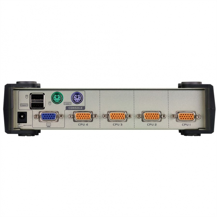 Imagine KVM Switch PS/2-USB VGA cu 4 porturi, Aten CS84U-6