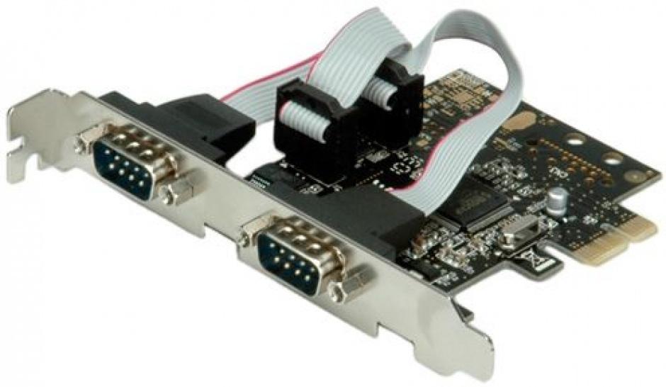 Imagine PCI Express la 2 porturi Serial RS-232 D-Sub 9 pini, Value 15.99.2118