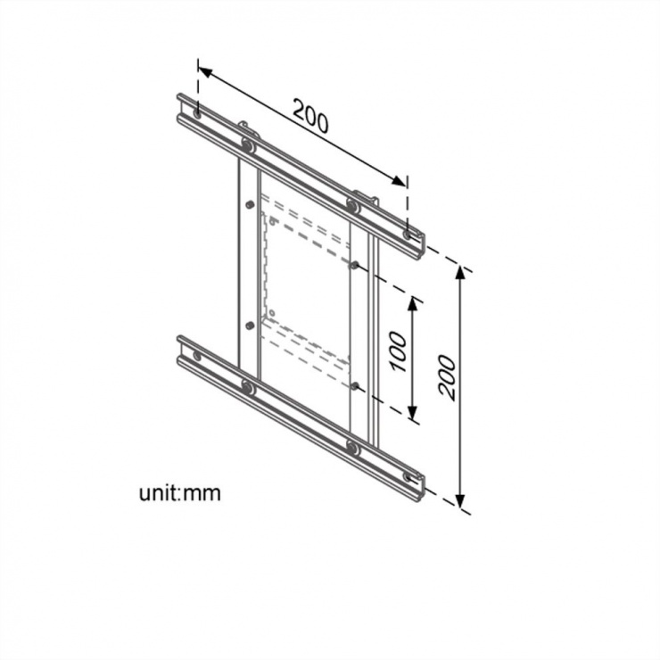 Imagine Adaptor monitor VESA 100 la VESA 100/200, Roline 17.03.1106-2