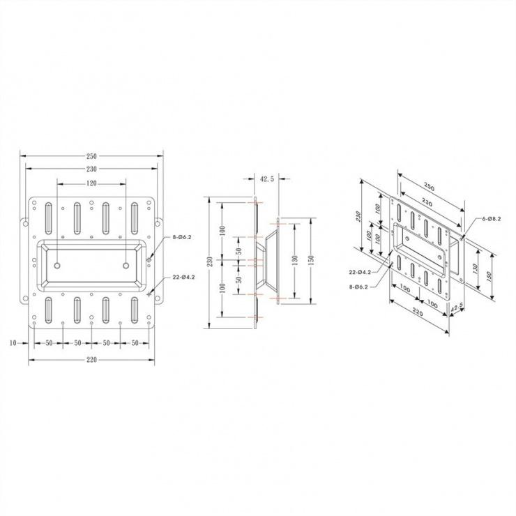 Imagine Suport monitor LCD pentru perete, Roline 17.03.1183-1