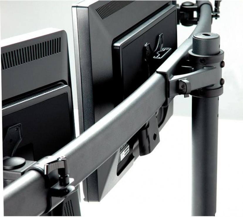 Imagine Suport pentru 3 x monitor LCD VESA 75/100 prindere masa, Value 17.99.1136
