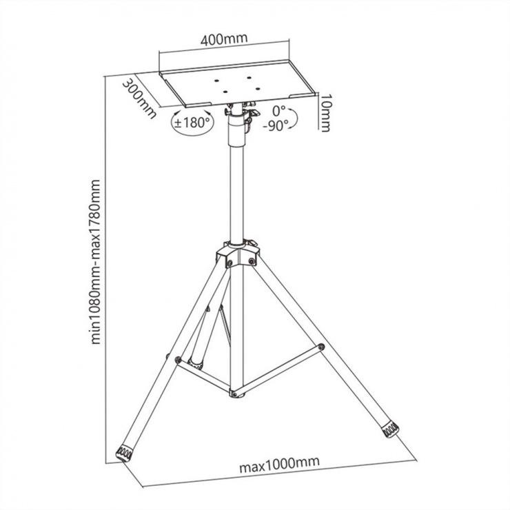 Imagine Stand tripot multifunctional Negru, Value 17.99.1168-1