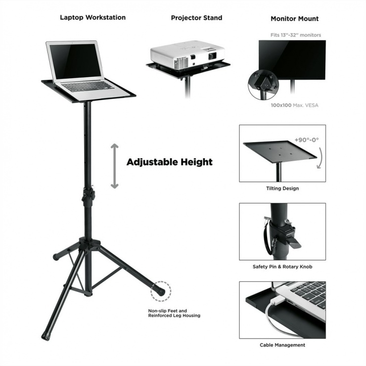 Imagine Stand tripot multifunctional Negru, Value 17.99.1168-2