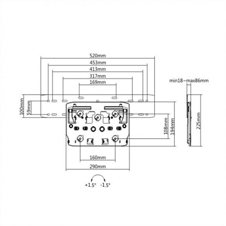 Imagine Suport perete pentru SAMSUNG Seria Q (Q7, Q8, Q9, Q7FN, Q9FN), Value 17.99.1169