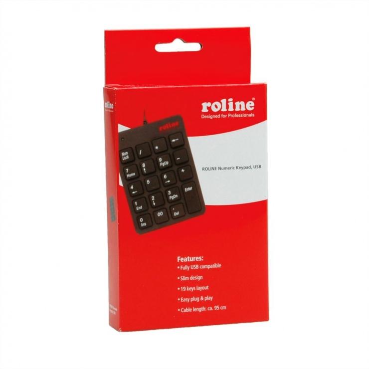 Imagine Tastatura Numerica Roline USB, 18.02.3229-3