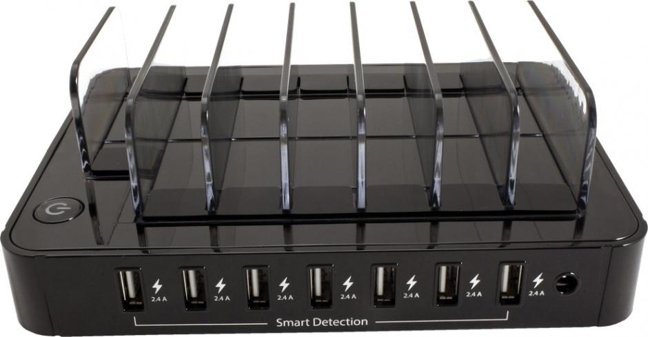 Imagine Statie de incarcare (incarcator priza) cu 7 x USB 2.4A, Roline 19.07.1051
