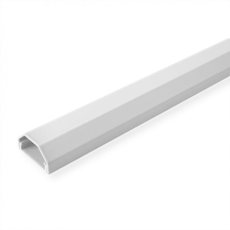 Imagine Organizator canal cablu aluminiu 33x26x110mm Alb, Roline 19.08.3110