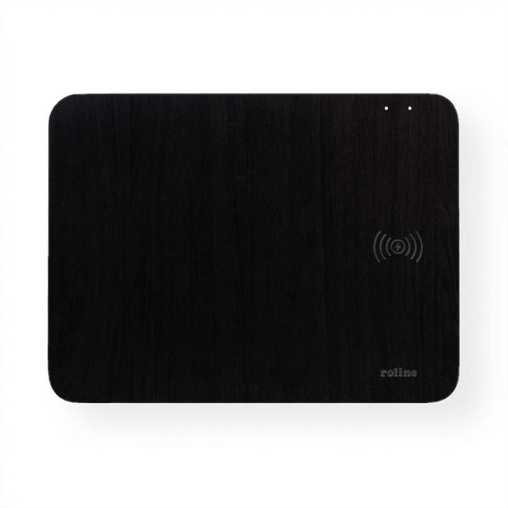 Imagine Mouse pad cu incarcare wireless 10W Negru, Roline 19.11.1014