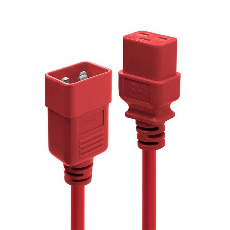 Imagine Cablu de alimentare IEC C19 la C20 1m Rosu, Lindy L30123