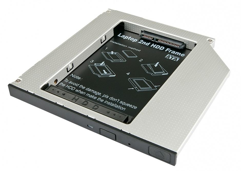 "Imagine Installation Frame (Caddy) Slim SATA 5.25 pentru 2.5"" SATA HDD 9.5mm, Lindy L20935"