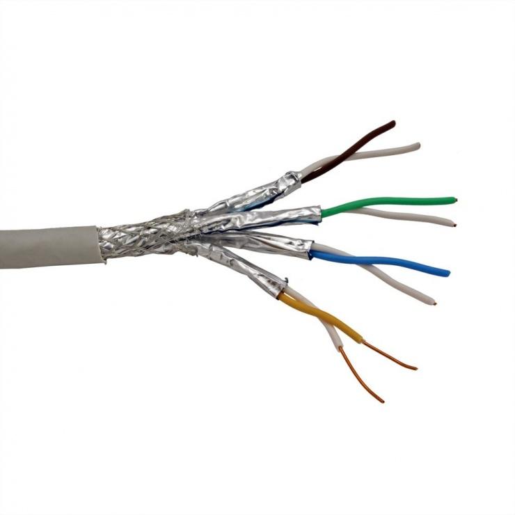 Imagine Cablu retea S-FTP (PiMF) Cat.7, solid, AWG23, 300m, Roline 21.15.0004-1
