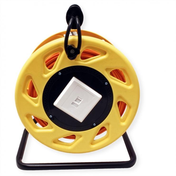 Imagine Rola cablu de retea Cat.6A S/FTP 60m, Roline 21.15.0007-2