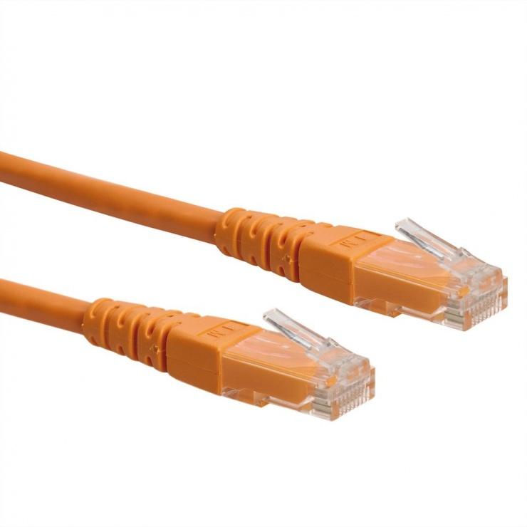 Imagine Cablu retea UTP Cat.6 orange 0.3m, Roline 21.15.1517