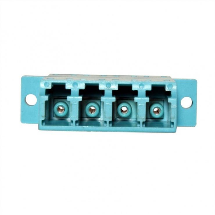 Imagine Adaptor fibra optica LC-LC OM3 cvadruplu, Value 21.99.0660-1