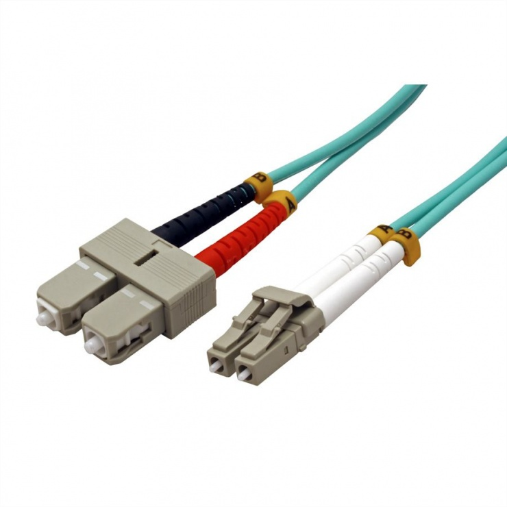 Imagine Cablu fibra optica LC-SC OM3 duplex multimode 10m, Value 21.99.8718-1