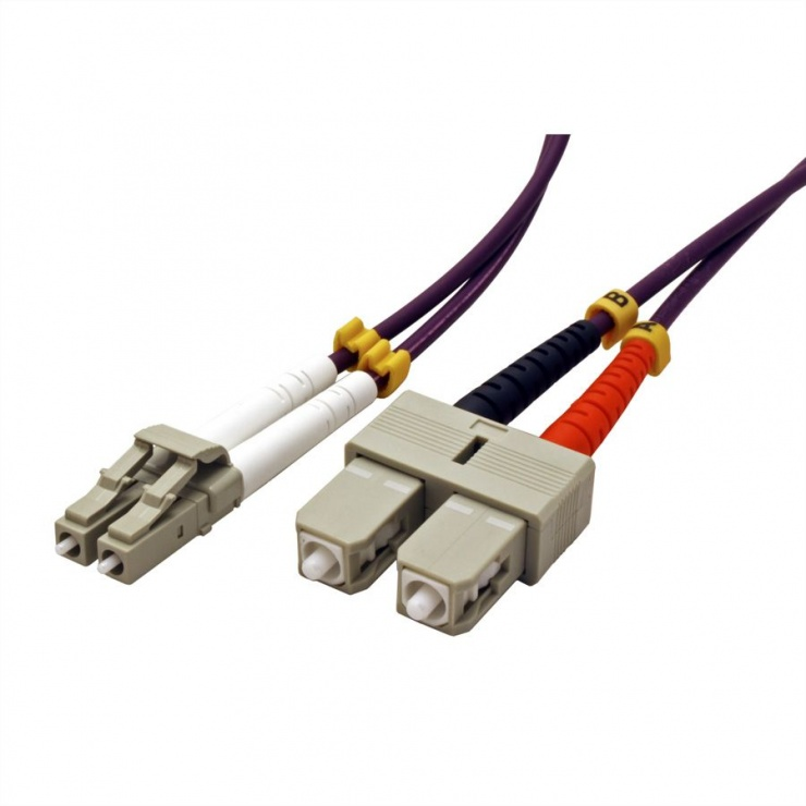 Imagine Cablu fibra optica LC-SC OM4 duplex multimode 10m, Value 21.99.8768-1