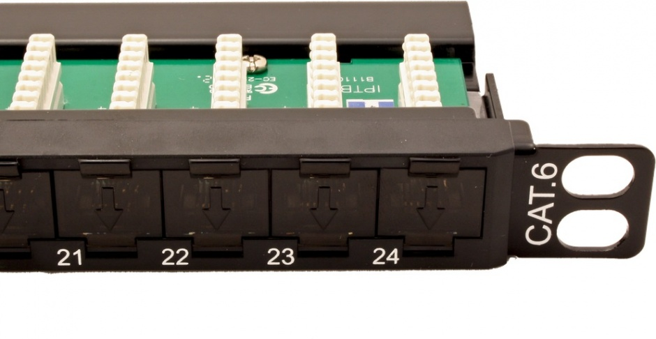 Imagine Patch Panel UTP Cat.6 24 porturi 0.5U, Roline 26.11.0372-2