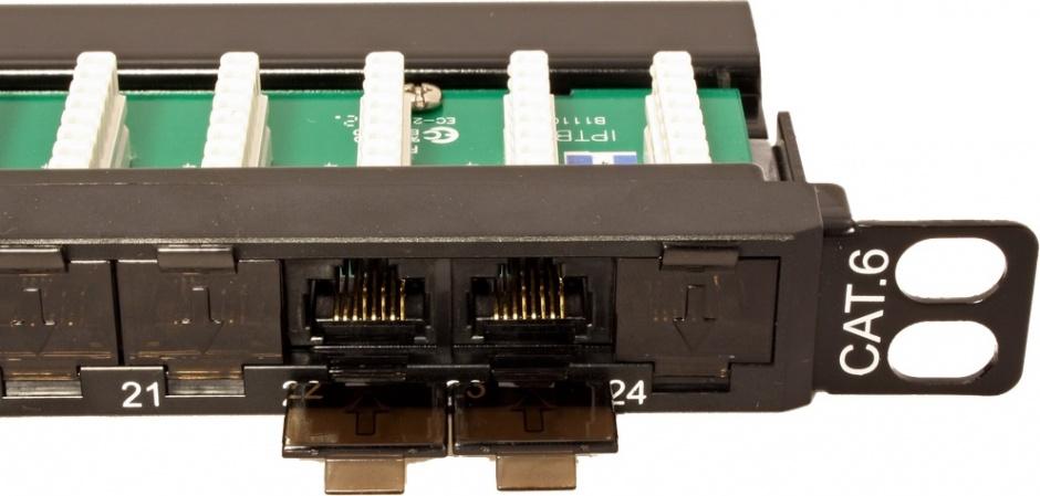 Imagine Patch Panel UTP Cat.6 24 porturi 0.5U, Roline 26.11.0372-1
