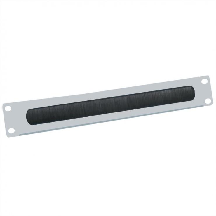 "Imagine Panou cabluri cu perii ghidaj 19"" 2U RAL7035 Gri deschis, Value 26.99.0314"