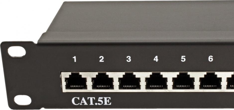Imagine Patch Panel Value STP Cat.5e 24 porturi, ecranat, negru 26.99.0328