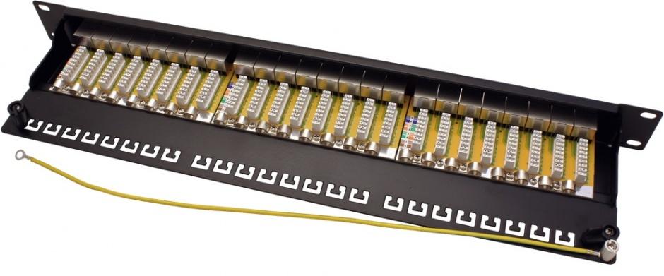 """Imagine Patch panel 24 porturi 19"""" cat 6A STP negru, Value 26.99.0360"""