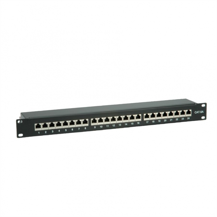 "Imagine Patch panel 24 porturi 19"" cat 6A STP negru, Value 26.99.0360"