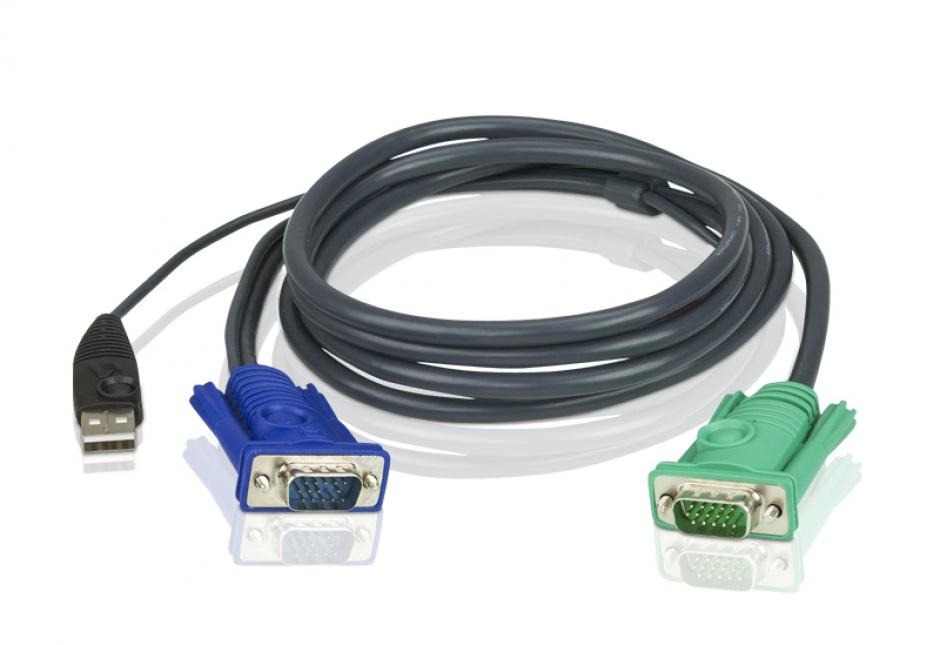 Imagine Set cabluri pentru KVM 3 in 1 SPHD USB 5m, Aten 2L-5205U