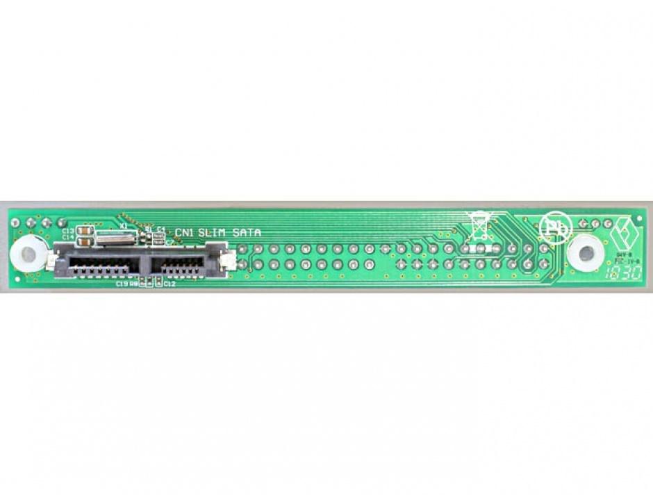 Imagine Adaptor Slim SATA 13 pini la IDE 40 pini, Delock 65236-2