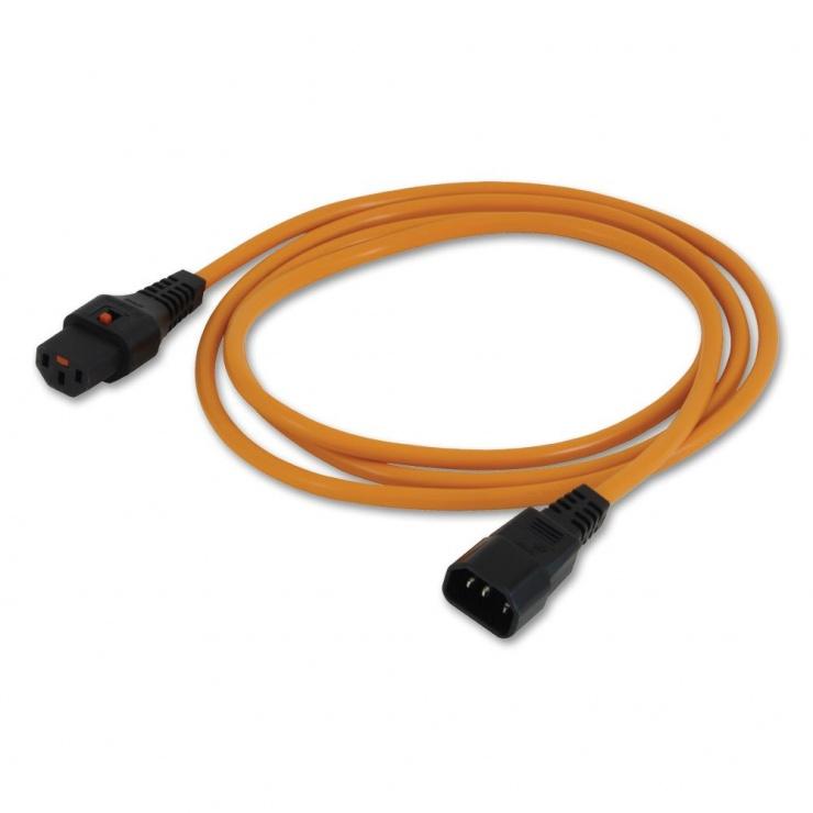 Imagine Cablu prelungitor alimentare C13-C14 cu blocare 2m, Lindy L30259