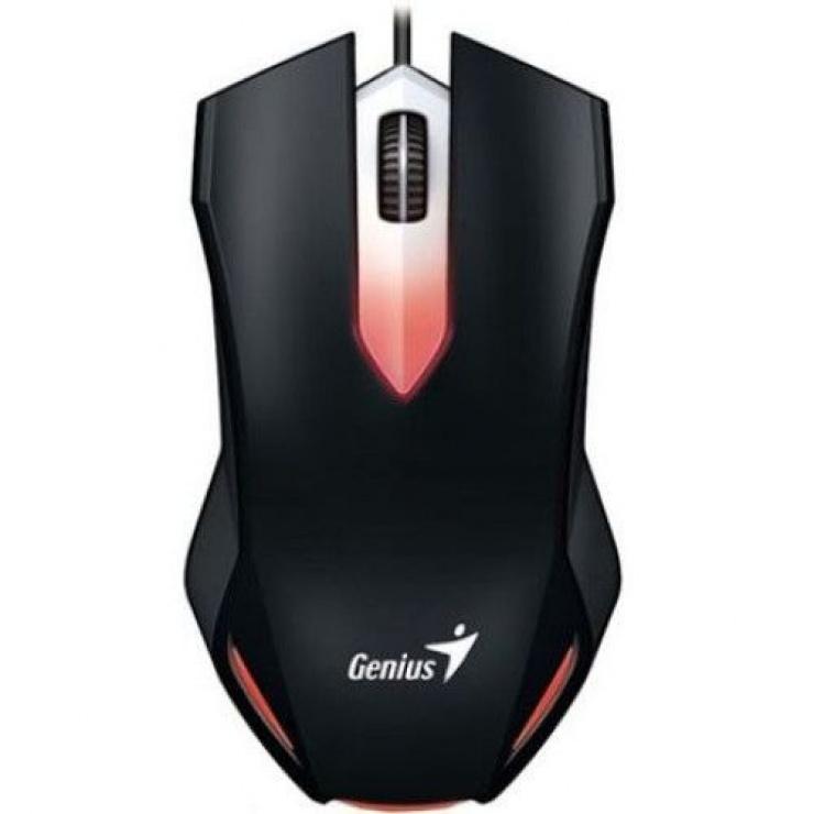 Imagine Mouse optic gaming X-G200, iluminare red LED, USB Negru, Genius