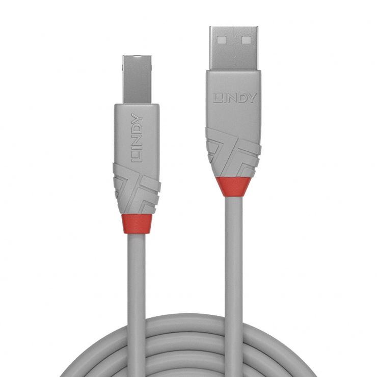 Imagine Cablu USB-A la USB-B de imprimanta Anthra Line 2m, Lindy L36688