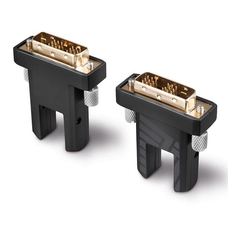 Imagine Cablu micro HDMI v2.0 4K60Hz Fibra optica Hybrid HDR - conectori HDMI, DVI detasabili T-T 10m, Lindy