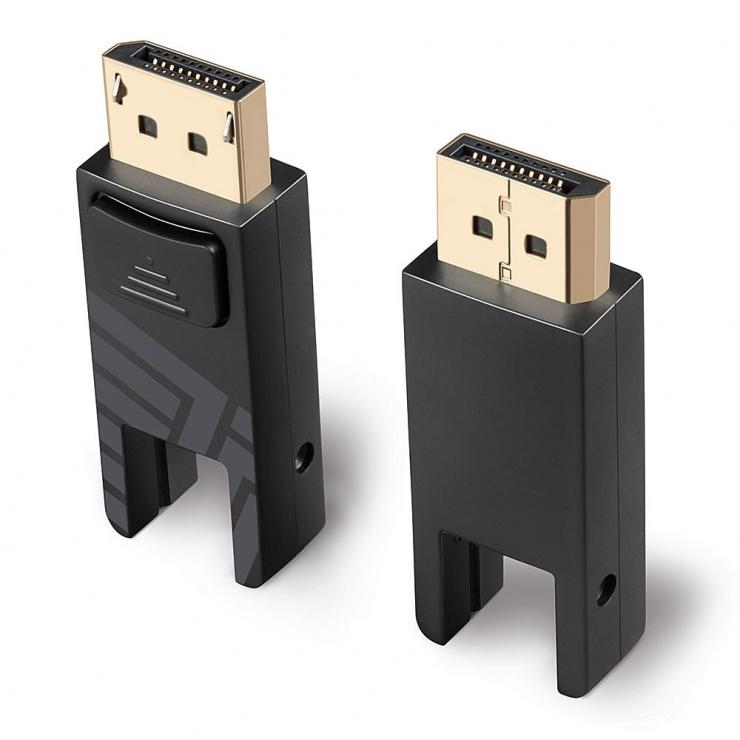 Imagine Cablu Mini Displayport v1.4 8K60Hz/4K120Hz Fibra optica Hybrid HDR - conectori Displayport detasabil