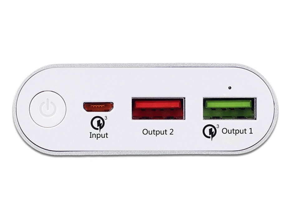 Imagine Power Bank 10200 mAh cu 2 x USB-A cu Qualcomm® Quick Charge 3.0, Navilock 41501