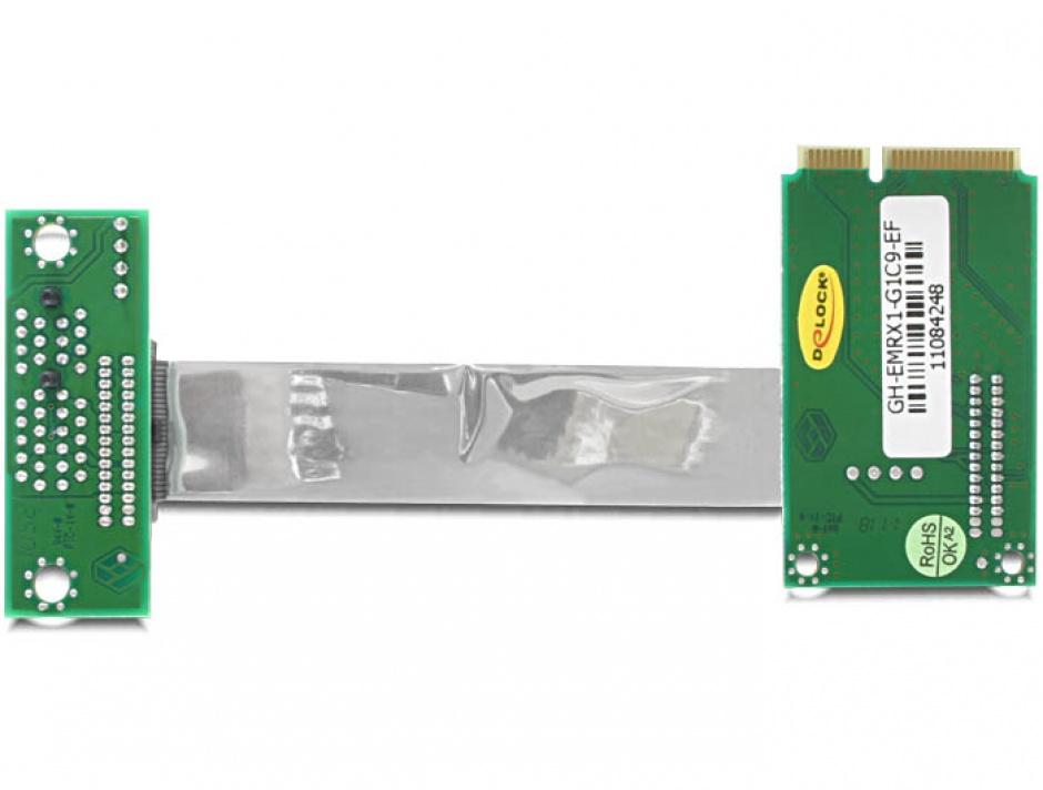 Imagine Riser card Mini PCIe la PCI Express x1 right insertion, Delock 41851
