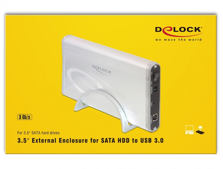 "Imagine Rack Extern HDD SATA 3.5"" la USB 3.0, Delock 42478"