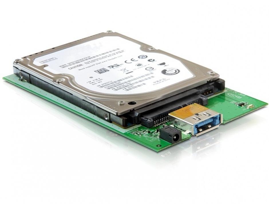 "Imagine Rack extern HDD 2.5"" SATA la Multiport USB 3.0 + eSATAp, Delock 42488"