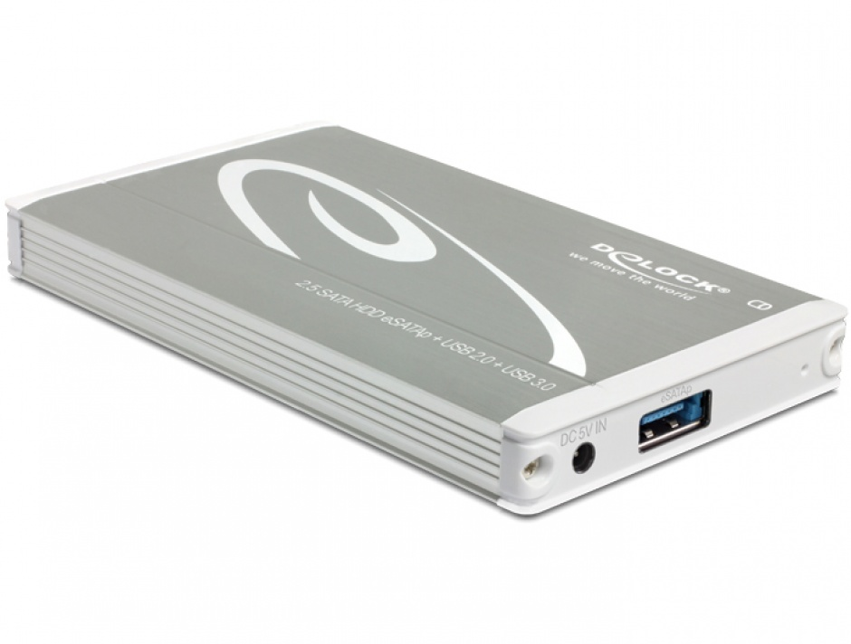 "Imagine Rack extern pentru SATA HDD 2.5"" la Multiport USB 3.0 + eSATAp, Delock 42514"