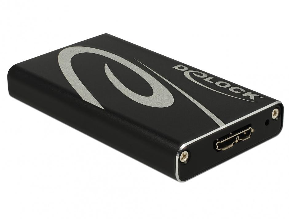 Imagine Rack extern mSATA SSD la USB 3.0, Delock 42569