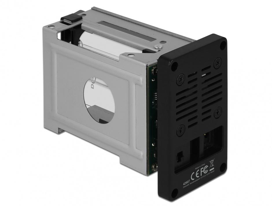 """Imagine Rack extern USB 3.1-C pentru 2 x 2.5"""" SATA HDD / SSD cu RAID, Delock 42607"""