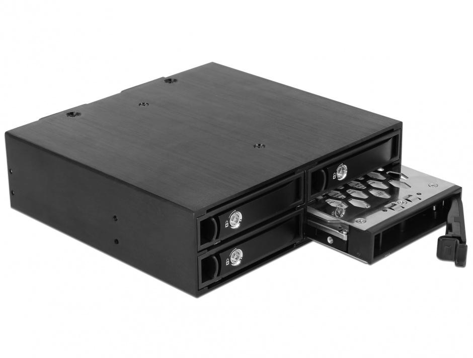 "Imagine Rack mobil intern 5.25"" la 4 x 2.5"" SATA/SAS HDD/SSD 12 Gb/s, Delock 47233"